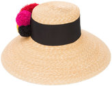 Eugenia Kim pompom embellished hat - women - Cotton/Straw - One Size