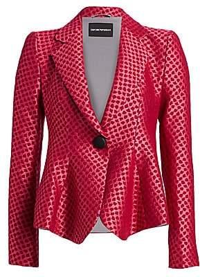 Emporio Armani Women's Jacquard Fit-&-Flare Jacket