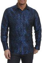 Robert Graham Quaking Aspen Paisley Silk Shirt