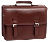 McKlein Siamod Belvedere Oil Pull-Up Leather Laptop Bag - Brown