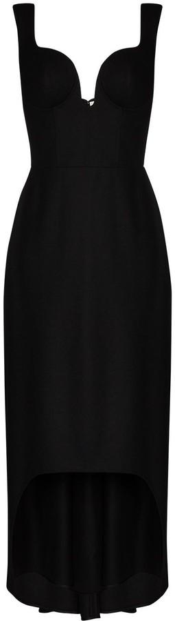 Alexander McQueen sweetheart Oxbridge flannel dress