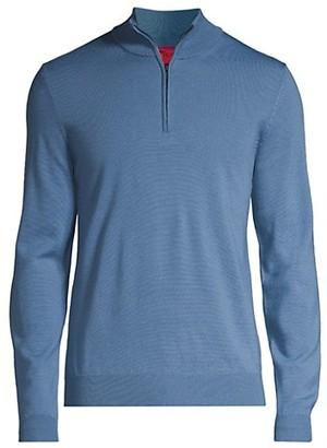 HUGO BOSS Zip Wool Sweater
