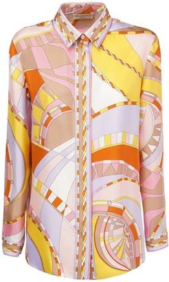 Emilio Pucci Printed Silk Satin Shirt