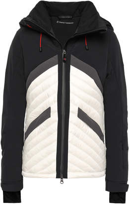 Perfect Moment Color-block Quilted Shell Hooded Down Jacket