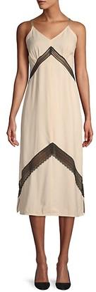 Helmut Lang Lace Inset Midi Dress
