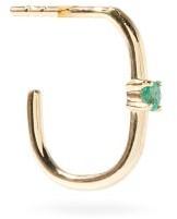 Otiumberg Emerald & 9kt Recycled-gold Single Earring - Green Gold