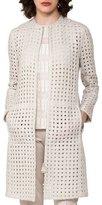 Akris Cutout Zip-Front Jacket, Gray