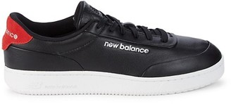 New Balance Leather Suede-Trim Sneakers