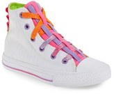 Converse Girl's Chuck Taylor All Star 'Loopholes' High Top Sneaker