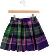 Oscar de la Renta Girls' Pleated Plaid Skirt