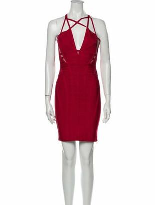 Herve Leger Elliana Mini Dress Red