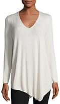 Joie Tambrel B Asymmetric Lace-Back Sweater