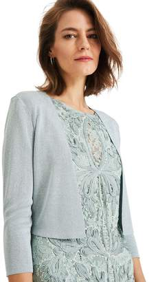 Phase Eight Womens Blue Salma Shimmer Knitted Jacket - Blue