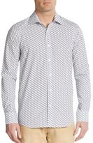 Report Collection Regular-Fit Whale Print Cotton Sportshirt
