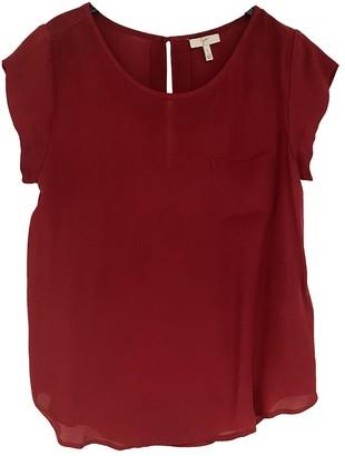 Joie Burgundy Silk Top for Women