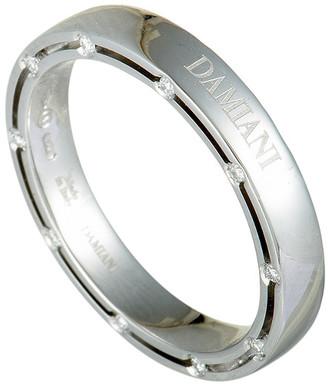 Damiani 18K 0.18 Ct. Tw. Diamond Ring