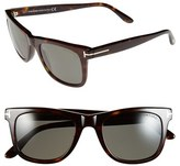 Tom Ford Men's 'Leo' 52Mm Polarized Sunglasses - Shiny Classic Havana