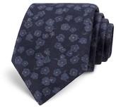 Todd Snyder Floral Print Wool Skinny Tie