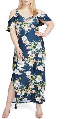Rachel Roy Floral Cold Shoulder Maxi Dress