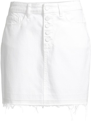 Paige Aideen Exposed Button Skirt