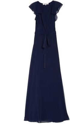 Diane von Furstenberg Eldridge Flutter Sleeve Maxi Dress