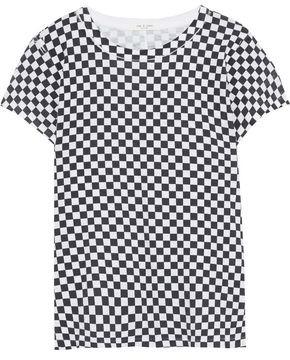 Rag & Bone Checked Pima Cotton-jersey T-shirt