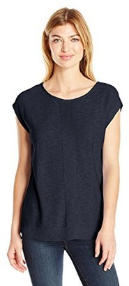 Jones New York Women's Open Nk Extend SLV W/Woven Back