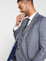 Skopes Kolding Suit Jacket - Blue/Grey Check