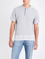Kenzo Logo-border cotton polo shirt