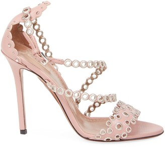 Alaia Grommet Stiletto Sandals