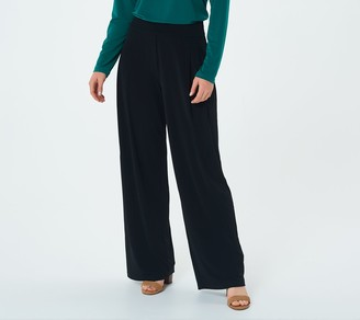 Susan Graver Every Day by Petite Liquid Knit Palazzo Pants