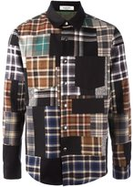 Valentino patchwork shirt - men - Cotton/Cupro/Wool/Virgin Wool - 39
