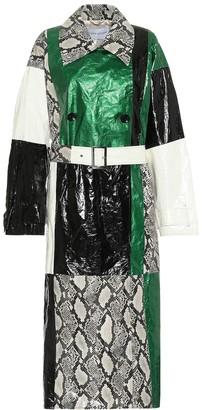 Stand Studio Eliora snake-effect trench coat