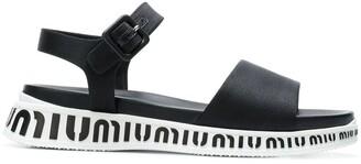 Miu Miu flat logo sole sandals