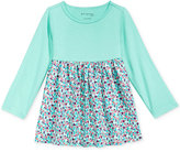 First Impressions Baby Girls' Long-Sleeve Solid & Geo-Print Tunic, Only at Macy's