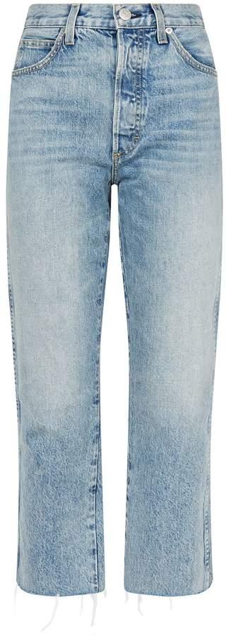Amo Denim Loverboy Wanderer Raw-Hem Jeans