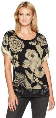 Desigual Women's TS_IRISA Knitted Short Sleeve T-shirt Black (Negro 2000) 12 (Manufacturer Size: M)