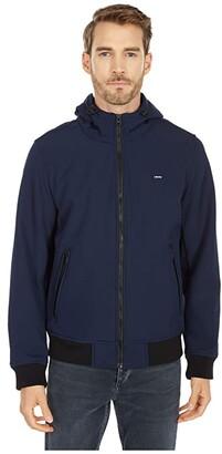 Levi's Performance Soft Shell Hooded Bomber Jacket (Midnight) Men's Clothing