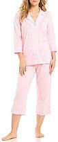 Lauren Ralph Lauren Paisley Jersey Capri Pajamas