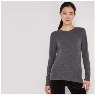 Joe Fresh Women's Cashmere Sweater, Grey Mix (Size XL)