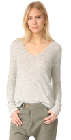 ATM Anthony Thomas Melillo Cashmere Donegal V Neck Sweater