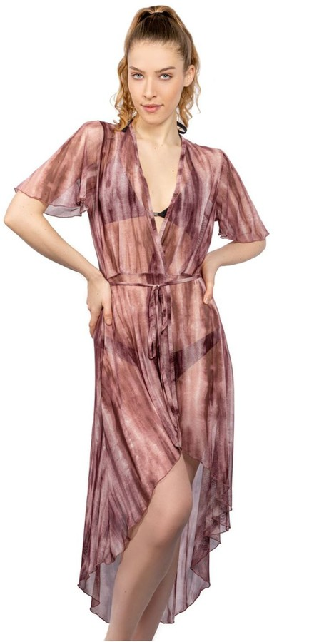 pure silk Naturally dyed beach Natural cover up Hand dyed mini Plant dyed sheer tunic Beach cover up