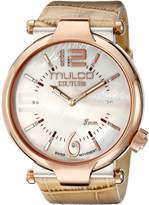 Mulco Women's MW5-3183-113 Couture Slim Analog Display Swiss Quartz Beige Watch