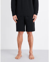 Emporio Armani Eagle Cotton-terry Shorts