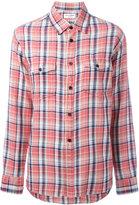 Saint Laurent classic plaid shirt - women - Cotton/Linen/Flax - L