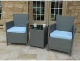 Andover Mills Pendergast 3 Piece Rattan Seating Group with Cushions Frame Color: Gray