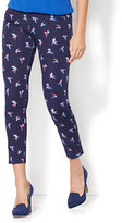 New York & Co. The Audrey Ankle Pant - Navy - Hummingbird Print