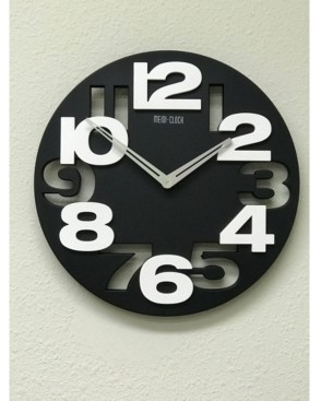 Creative Motion 3D Numbers Cut Out and Raise Round Clock