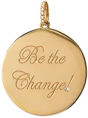 Dru Diamond Be The Change Yellow Gold Medallion