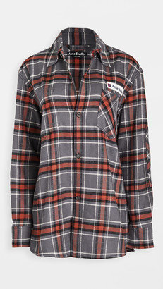 Acne Studios Salak Flannel PC Face Shirts